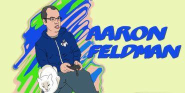 Writer and Editor Aaron Feldman as drawn by Ricky Lima